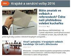 Krajské volby na webu Deníku Rovnost.