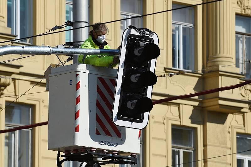 Semafory v Brně.