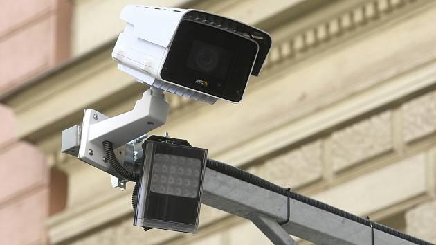 Kamerový systém v brněnských ulicích.