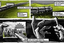 DOBŘÍ MONGOLOVÉ. Jan Turnovec v komiksu reflektuje podmínky, které provází cizince mimo vlast. Nyní dílo vystavuje v Domě pánů z Lipé.