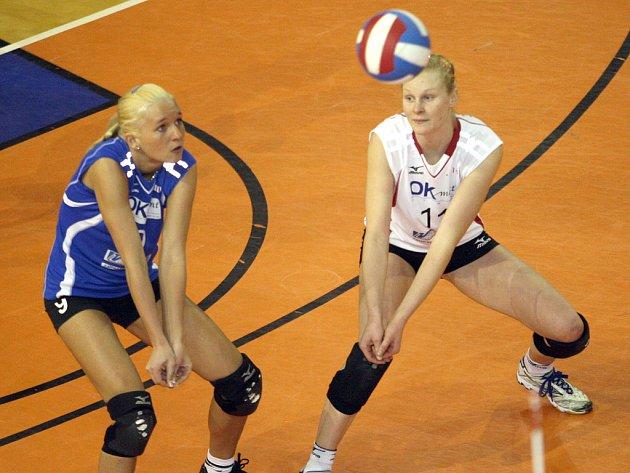 Brněnské volejbalistky Jášová i Melichárková patří i v mladém věku k oporám svého týmu.