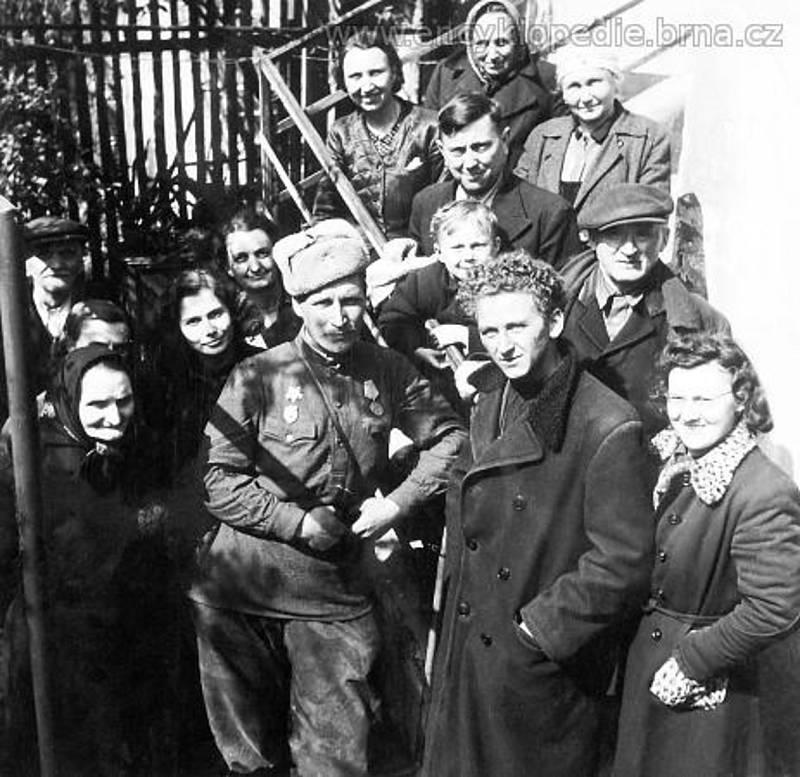 Rudá armáda v Brně - 26. a 27. dubna 1945 (v ulici Trávníky, Vranovská a Tišnovská).