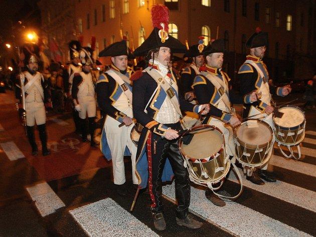 Pochod příznivců napoleonské éry připomněl padlé.
