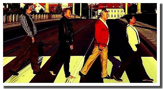 Čtveřici stárnoucích rockerů ztvární Boleslav Polívka, Marián Geišberg, Karel Heřmánek a Miroslav Krobot (zleva).