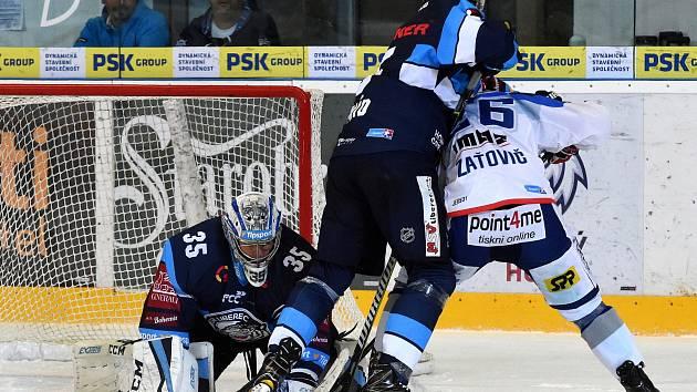 11.kolo extraligy ledního hokeje mezi domácí Kometou Brno (Martin Zaťovič) a Libercem (Ladislav Šmíd a Roman Will).