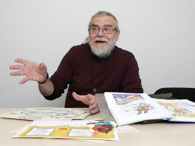 Brněnský výtvarník Jiří Háva.