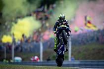 Valentino Rossi přijíždí do Brna povzbuzený o třetí místo v předcházejícím podniku v Jerezu.