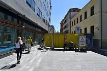 Brno 22.5.2020 - rekonstrukce ulice Česká, Solniční a Veselá