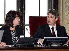 Roman Onderka a Barbora Javorová na úterním brněnském zastupitelstvu