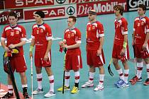 Čeští florbalisté na mistrovství světa ve Švýcarsku.