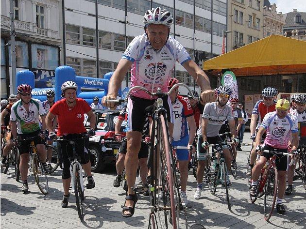 Cyklisté vyrazili z Brna na vyjížďku napříč Českou republikou.