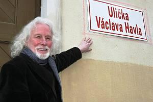 Ulička Václava Havla v Brně.