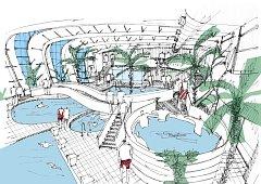 Vizualizace bazénu v Kohoutovicích