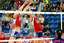 České volejbalistky postoupily na mistrovství světa juniorek v Brně do osmifinále.