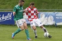 Tahák fotbalového krajského přeboru mezi Bystrcí a Moravskou Slavií Brno skončil 1:1.