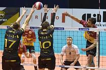 Brno 25.1.2020 - domácí Volejbal Brno v černém proti Dukle Liberec (Alexander Shafranovich)