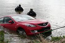 Utopené auto z Mušova.