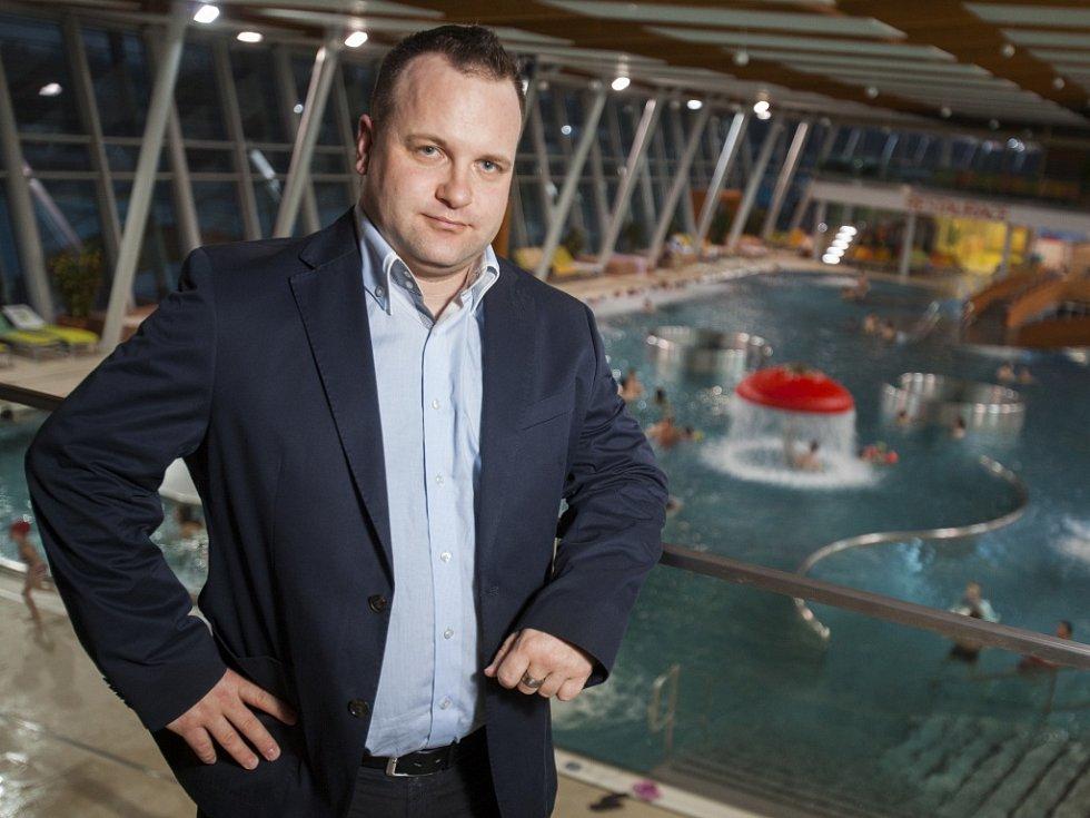 Ředitel Aqualandu Moravia Petr Pavlacký.