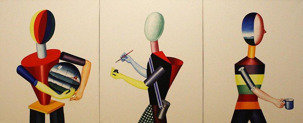 Moravská galerie v Brně vystavuje díla výtvarníka Viktora Pivovarovova.