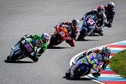Finálový závod Moto3 Velká cena České republiky, závod mistrovství světa silničních motocyklů v Brně 4. srpna 2019.  Na snímku (vpravo) Jakub Kornfeil (CZE).