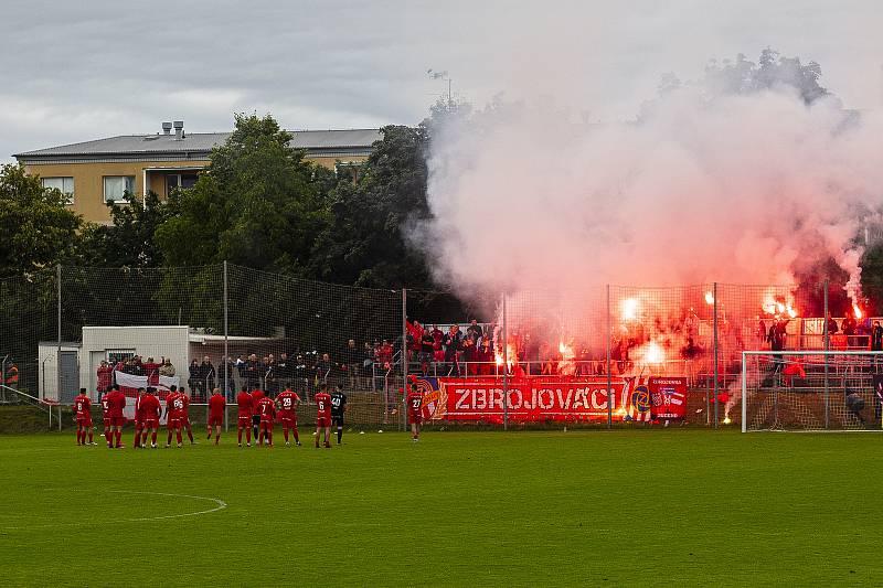 Fanoušci fotbalové Zbrojovky mohou oslavit návrat do první ligy po dvou letech.