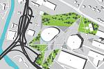 Studenti fakulty architektury brněnské techniky navrhli postavit sportovní halu za pavilonem Z.