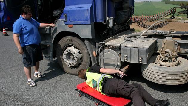 Jihomoravští policisté kontrolovali kamiony.