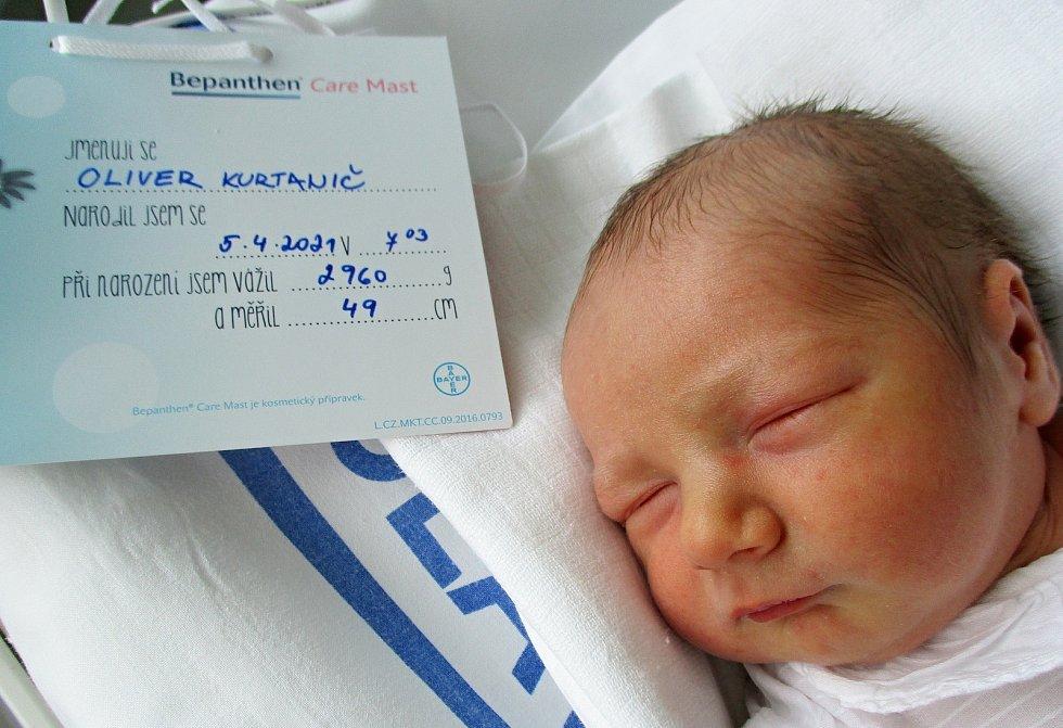 Oliver Kurtanič, 5. 4. 2021, Dolní Bojanovice, Nemocnice Břeclav, 2960 g, 49 cm