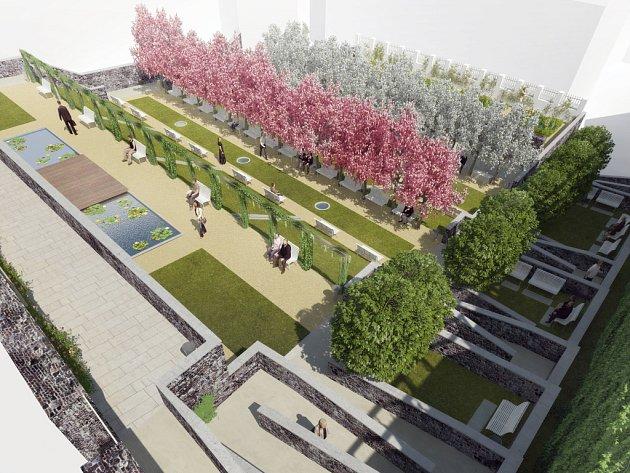 Vizualizace Kapucínských teras z roku 2009.