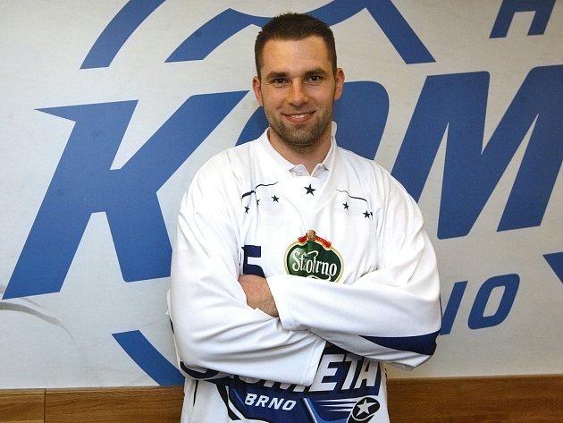 Hokejista Richard Stehlík v dresu Komety Brno.