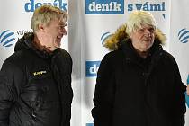 Josef Mazura a Karel Jarůšek v zóně Deníku na Olympijském festivalu v Brně.