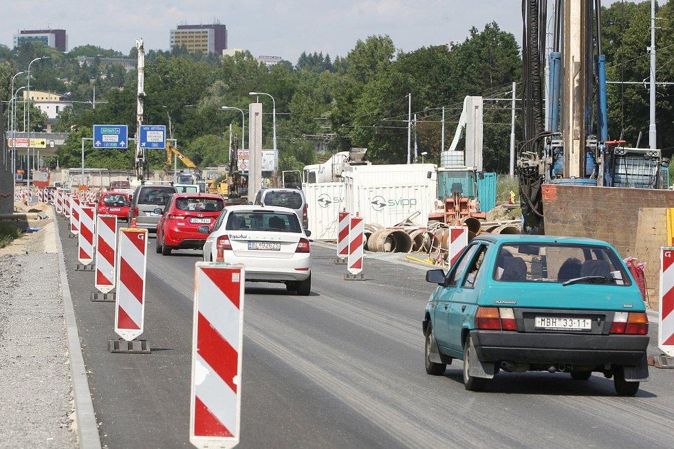 Brno 15.7.2020 - stavba VMO v ulici Žabovřeská - I. etapa