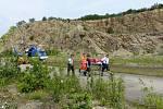 Hasiči zachraňovali ženu, která spadla v brněnských Hádech.