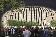 Návrh studentů fakulty architektury brněnské techniky na stavbu sportovní haly za pavilonem Z. Už v polovině minulého roku tvrdili, že plocha velodromu je pro ni malá.