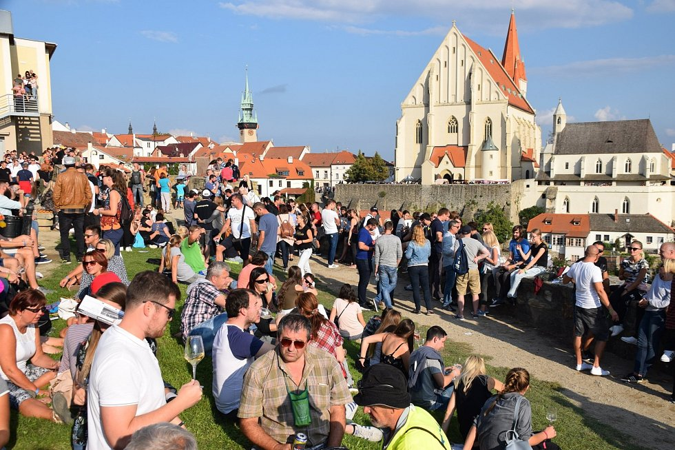 Nádvoří u Rotundy svaté Kateřiny ve Znojmě v roce 2018.