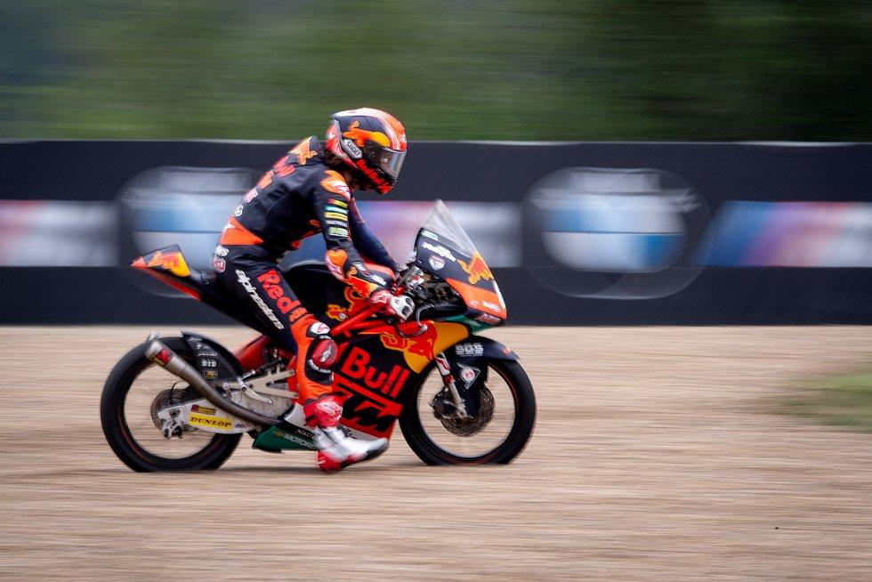 Kvalifikace na Velkou cenu České republiky, závod mistrovství světa silničních motocyklů v Brně 3. srpna 2019. Na snímku Can Oncu (TUR).