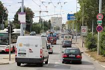 Kvůli rekonstrukci bude brněnská Valchařská ulice uzavřená už od Tomkova náměstí.