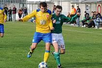 Fotbalisté Tasovic v utkání s brněnskou Bystrcí.
