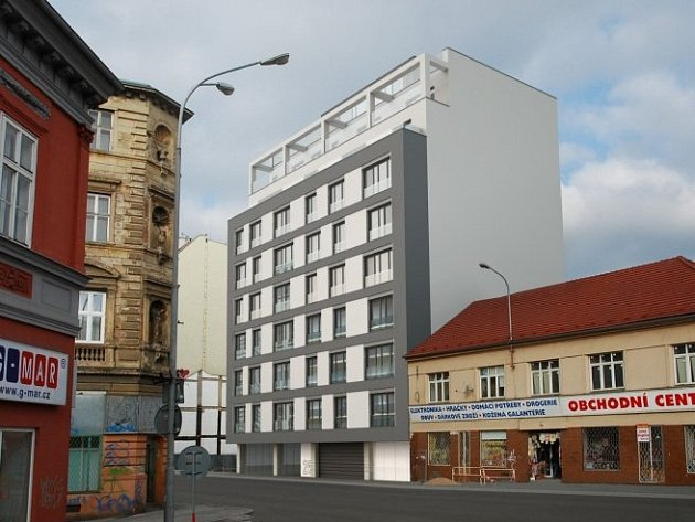 Brňané zatím cestou k dětské nemocnici míjí v ulici Milady Horákové prázdné místo po zdemolované budově. Nahradí ho nová desetipatrová polyfunkční budova s lékárnou, ordinacemi, kancelářemi a byty.