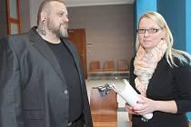 David Novotný a Helena Urbánková před soudem.