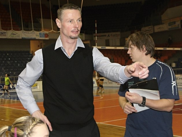 Trenér brněnských volejbalistek Přemysl Kubala.