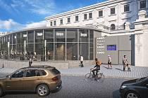 Budoucí podoba levého křídla výpravní budovy brněnského hlavního nádraží.