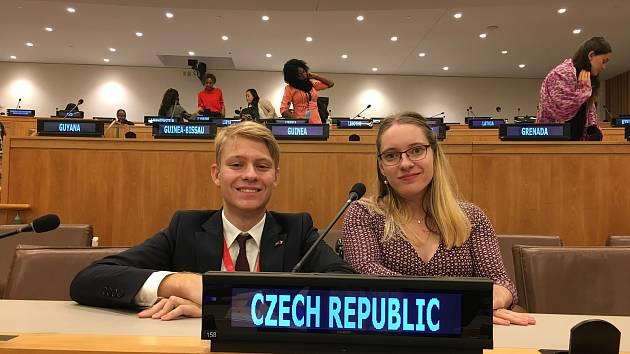 Mladou delegátkou do OSN se loni stala právnička z Brna Barbora Antonovičová.