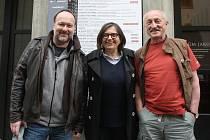 Režisér Luboš Balák a herci Zuzana Kronerová a Oldřich Navrátil.