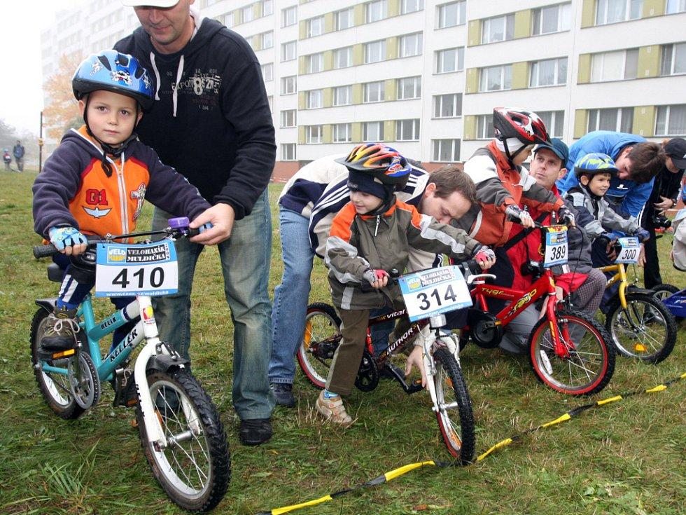 Amatérské závody na horských kolech Soběšická mulda.