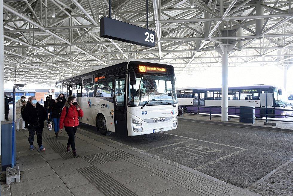 Autobusové nádraží Zvonařka.