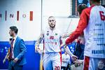 Brněnský basketbalista Šimon Puršl středeční utkání s Jindřichovým Hradcem kvůli zranění nedohrál.