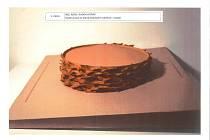 Vítězný návrh architektonické soutěže na vodní prvky na Dominikánském náměstí. Model vodního prvku uprostřed náměstí.