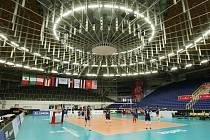 Kajot Arena po dobu konání světového šampionátu přišla o multifunkční kostku nad ledovou plochou.