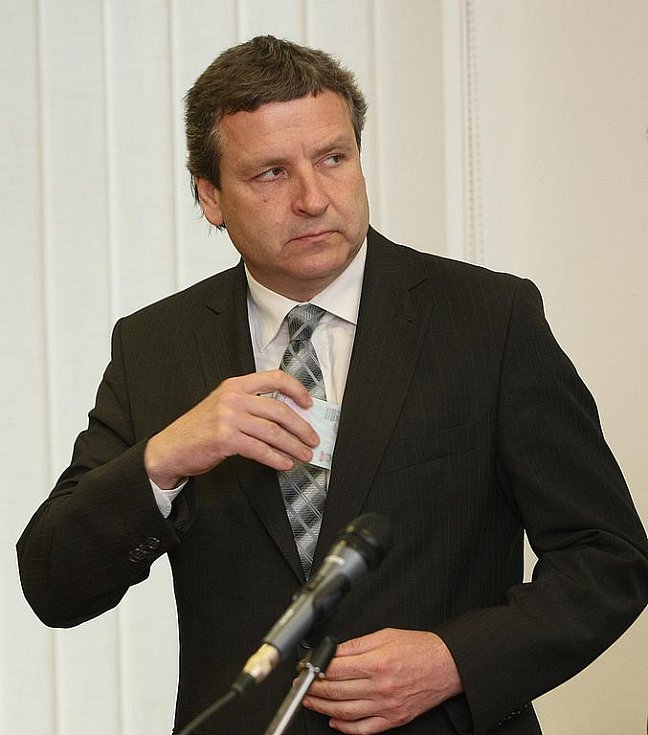 Radovan Novotný u olomouckého vrchního soudu.